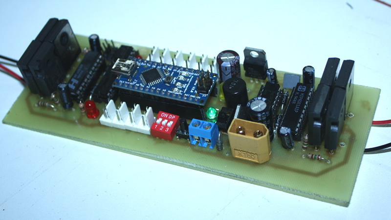 second version of sumo robot motor controller card