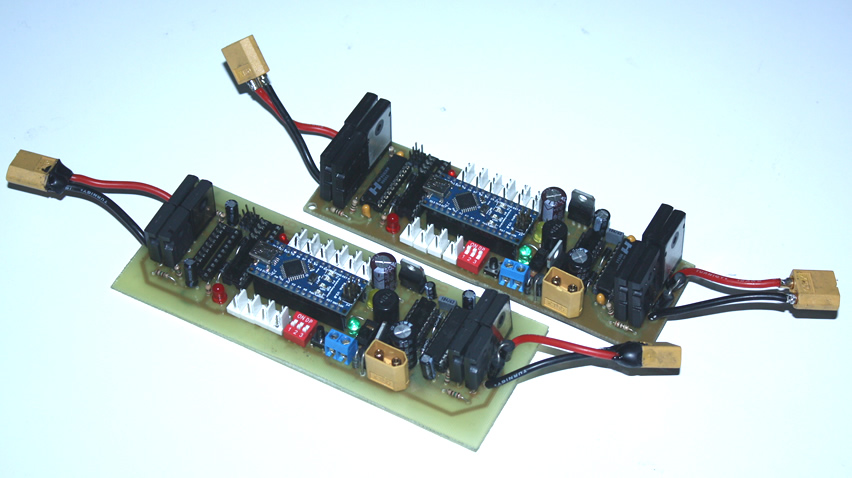 Sumo robot controller card with arduino