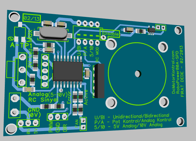 Motor Driver's top layer.